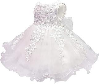 KINDOYO Baby Girls Dress - Baby Newborn Girls Floral Tulle Tutu Wedding Baptism Formal Pretty Princess Dresses