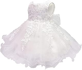 ZEVONDA Infant Girls Pretty Dress - Lace Embroidered Bridesmaid Pageant Birthday Baby Girl Wedding Princess Dress