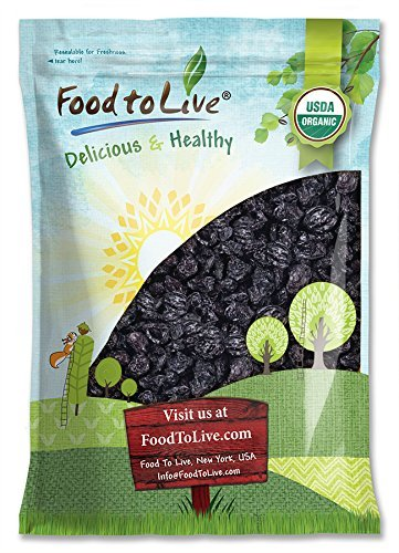 Organic Pitted Prunes, 15 Pounds — Dried California Plums, Non-GMO, Kosher, Unsulfured, Unsweetened, Bulk