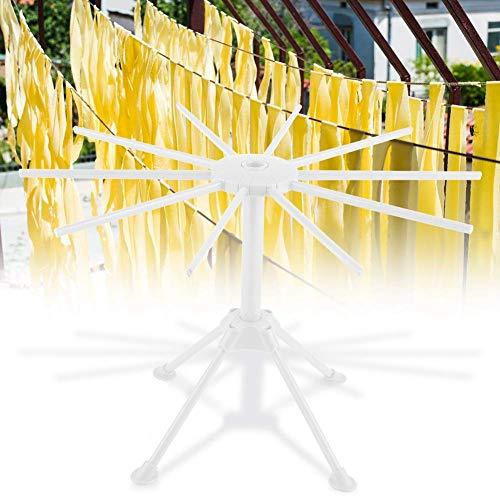 VIFER Stendipasta - Stendipasta pieghevole per spaghetti e spaghetti Stendipasta robusto e antiscivolo per asciugare la pasta fatta in casa (bianco)