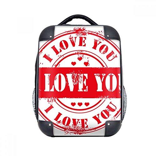 DIYthinker Hombro Día Te amo caja dura del sello postal de San Valentín Llevar niños Mochila 15' Regalo