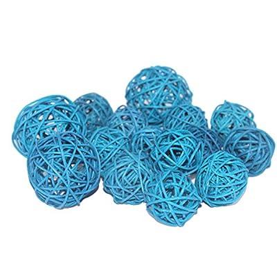 Qingbei Rina Wicker Rattan Balls, Garden, Wedding, Party Decorative Crafts, Vase Fillers Set of 18