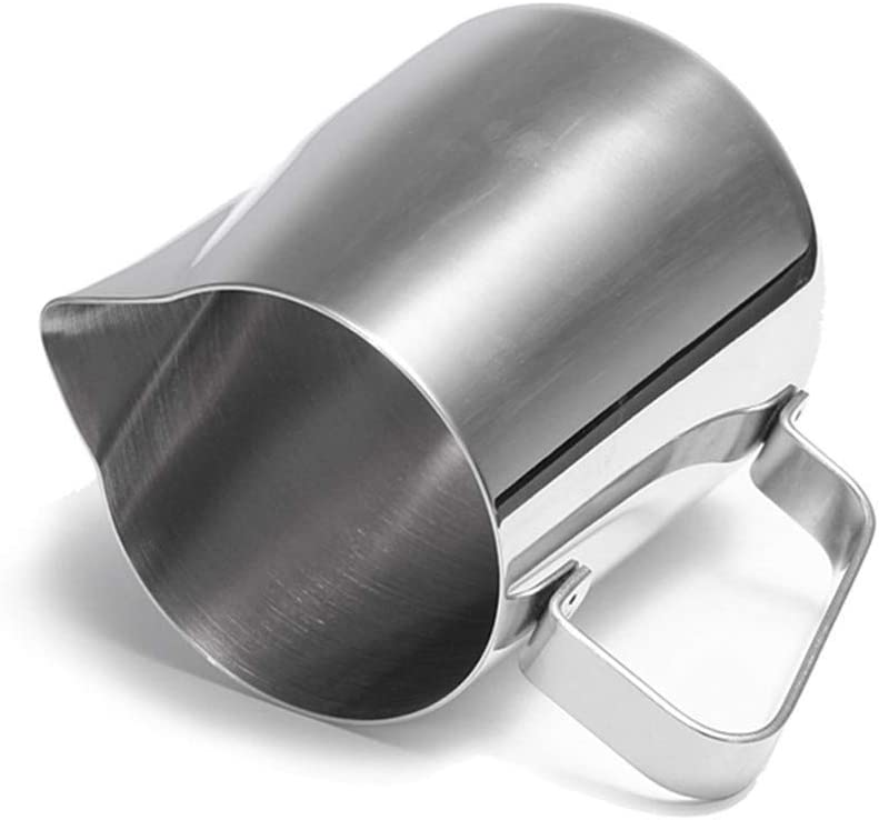 HenShiXin Protéger Café Jug Lait en Acier Inoxydable Frothing Espresso Tasse Pitcher Barista Craft Café Cappuccino Cups Latte Pot Outil de Cuisine Arrondie (Color : 2000ML) 600ml
