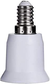 Flushzing 1pc E14 a E27 LED zócalo del Adaptador de Base de la Bombilla del Tornillo convertidor PBT Calor del sostenedor de Bulbo del LED Resistente