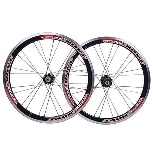 ZNND Set Ruote 20' Ruota di Bicicletta Lega Alluminio A Doppio Strato Anteriore Posteriore Cerchio per Bici Freno Disco Rilascio Rapido 74/130 Open Gear