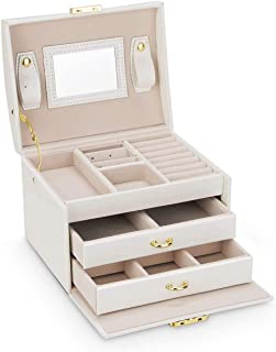 comprar comparacion Caja Joyero Caja de Joyas, Cofres para joyas 3 Niveles Jewelry Organizer para Mujer , Organizador de Joyas para Anillos, A...