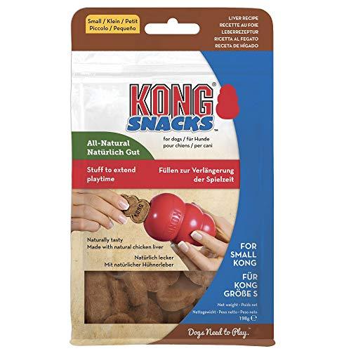 KONG - Snacks - Premi Naturali per Cani (Utilizzato al Meglio Giocattolo in Gomma Resistente) - Biscotti al Fegato - per Cani di Taglia Piccola