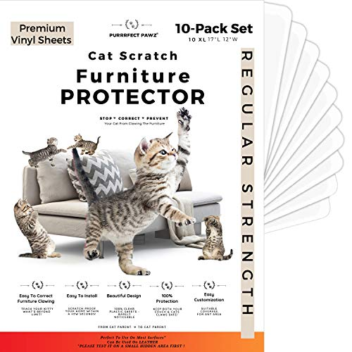 PURRRFECT PAWZ Cat Scratch Furniture Protector, Couch Protector from Cat Scratching