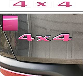 Reflective Concepts - 4x4 Emblem Overlay Decal Sticker - Fits: 2005-2012 Jeep Liberty - (Color: Hot Pink)