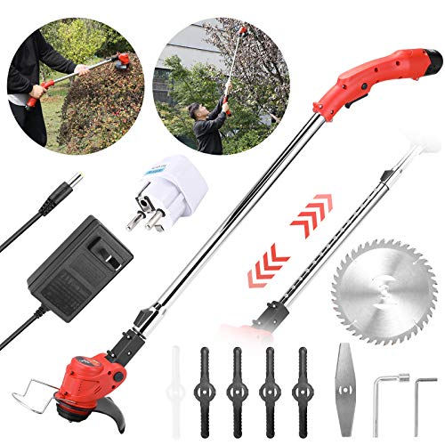 Montloxs 12V elektrischer Rasenmäher Akku-Haushalts-Grasschneider Cable Portable Pruning Garden Tool