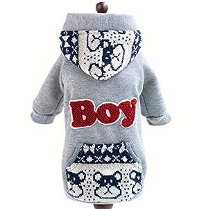 Pegasus Sweats à capuche en polaire Britannique jacekt Manteau Décontracté pour petit chien Pet chiot vêtements costume