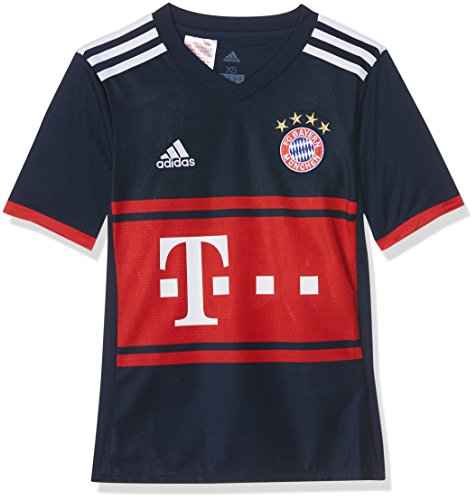 adidas Kinder FC Bayern Auswärts Trikot, Collegiate Navy/FCB True Red, 128