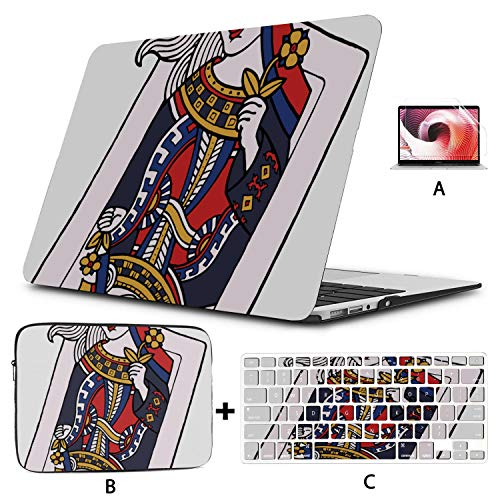 Mac Computer Case Personality Poker Cards MacBook Pro Covers Hard Shell Mac Air 11'/13' Pro 13'/15'/16' with Notebook Sleeve Bag for MacBook 2008-2020 Version