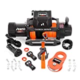 Rhino Carbon Series Electric Winch 6125 Kg - 12V Wireless Remote Control - Synthetic Rope