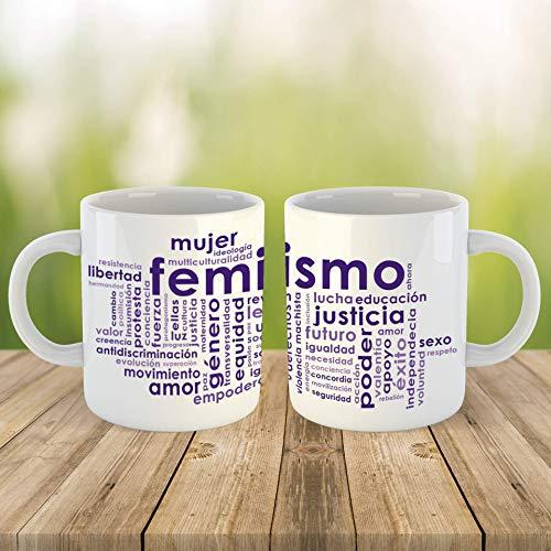 Taza Feminismo, Mapa Conceptual De Términos Feministas, 11 oz, Cerámica.