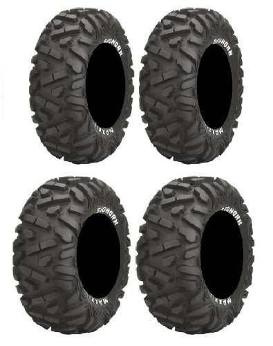 Full set of Maxxis BigHorn Radial 25x8-12 and 25x10-12 ATV Tires (4)