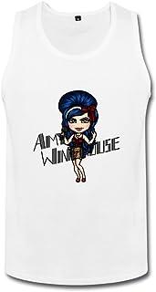 男性 ファッション シンガー エイミー ワインハウス タンクトップ 100%棉 White
