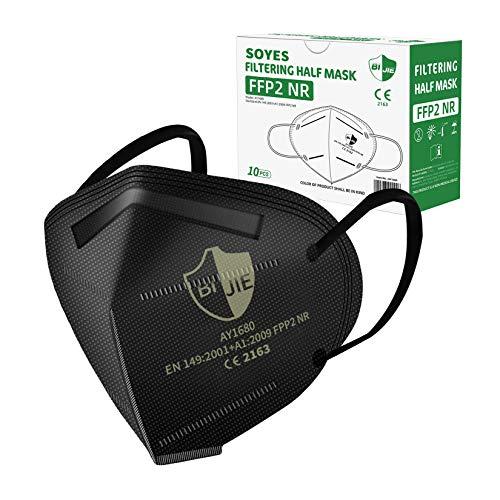 FFP2 Maske 10 Stück, Atemschutzmaske CE2163 Zertifiziert Gesichtsmaske für Erwachsene Mund-und Nasenschutz