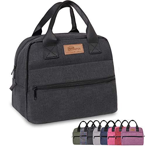 buringer-homespon Isolierte Lunchtasche Lunchbox Kühltasche Kühltasche Lunch-Behälter für Damen/Herren/Arbeit/Picknick Farbe: Schwarz…