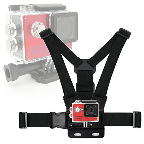 DURAGADGET Black, Fully Adjustable Chest Strap Mount With Screw Adaptor -...