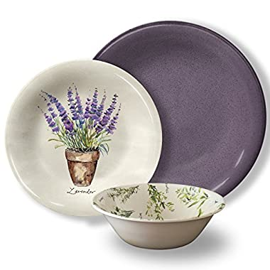 Melamine Farmers Market 12pc Dinnerware Set