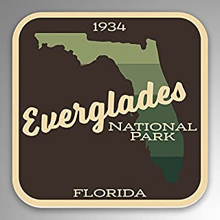 JMM Industries Everglades National Park Vinyl Decal Sticker Car Window Bumper 2-Pack 4-Inches by 4-Inches Premium Quality UV Protective Laminate NPS078