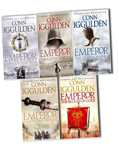Conn Iggulden Emperor Series, 5 Books Collection Pack Set RRP: £40.95 (The Gods of War, The Gates of Rome, The Death of Kings, The Field of Swords,The Blood of Gods)