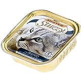 Mister Stuzzy Comida para Gatos de Vacuno mojada en paté, 32 Cuencos de Aluminio de 100 g, 3,2 kg