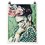 Bilderwelten Poster Wanddeko Kunstdruck Frida Kahlo -