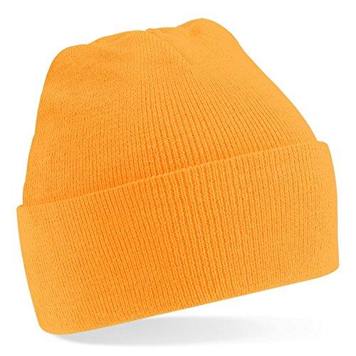 Beechfield Beechfield, Acryl-Strickmütze für Erwachsene, zum Aufschlagen, Unisex Gr. Einheitsgröße, Fluoreszierendes Orange