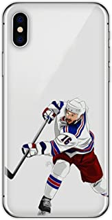iPhone 7 Plus / 8 Plus Hockey Player Protective Case Soft Silicone Transparent Thin TPU (09)