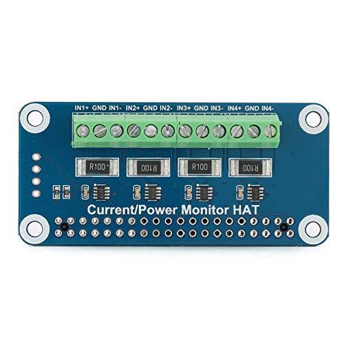 Socobeta Spannungsstromverbrauchsmonitor Hochgeschwindigkeits-All-in-One-Sense-HAT-Stromverbrauchsmonitor Kompatibel mit Raspberry Pi Integrierter 12-Bit-ADC