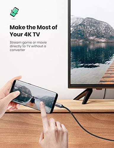 UGREEN USB C zu HDMI Kabel 4K@60Hz Thunderbolt 3 kompatibel Typ C auf HDMI Kabel Adapter kompatibel mit MacBook Pro 2020, iPad Pro 2020, Surface Go 2, Surface Pro 7, S20 usw.(2m)