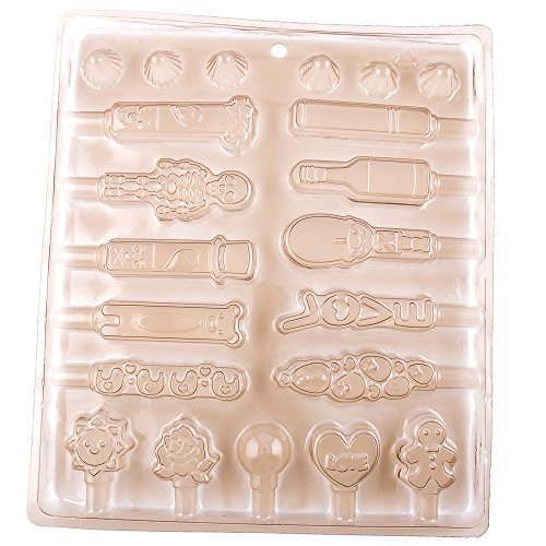Best Review Of 10 Pieces Chocolate Molds Plastic Egg Wedding Mothers Day Baby Shower 04011 Lollipops...