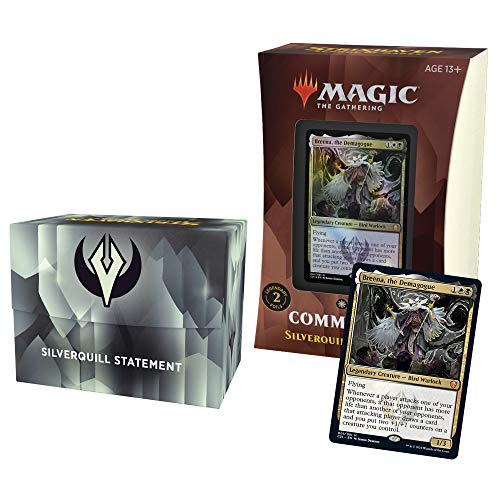 Magic The Gathering Strixhaven Commander Deck - Silverquill (Black-White)