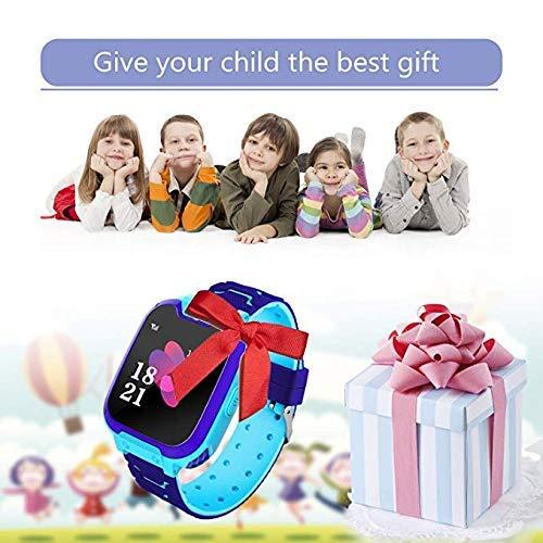 Smartwatch,1.54 Zoll Touch-Farbdisplay Kinder Smartwatch mit Kurzwahl, Musik, Wecker, Spiel, Kamera, Taschenlampe, IPX65 Water Resistant & SOS(Blau)
