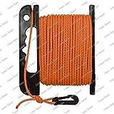Corderie Italiane 006043645 Treccia boa sub galleggiante, 4 mm - 25 mt, arancio, con avvolgitore