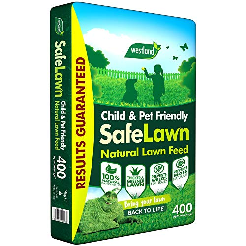 Westland SafeLawn Child and Pet Friendly Natural Lawn Feed 400 m2, Green, 14 kg
