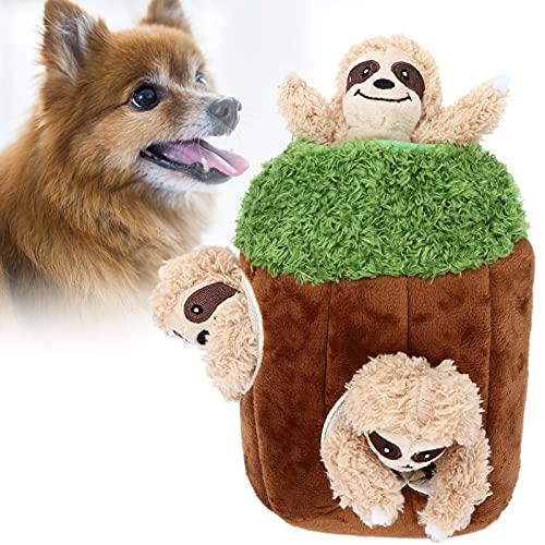 Eulbevoli Juguetes interactivos para Perros Squeaky, Seguro Interesante Juguete para esconder y Buscar para Perros Juguete para Perros Squeaky Plush Puzzle Juguete para Perros Squeaky Peluches Hide
