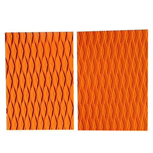 FLAMEER 2X Surfboard Protector Tail Pad Traction Deck Surf Grip Pads Accesorios De Bricolaje - Naranja