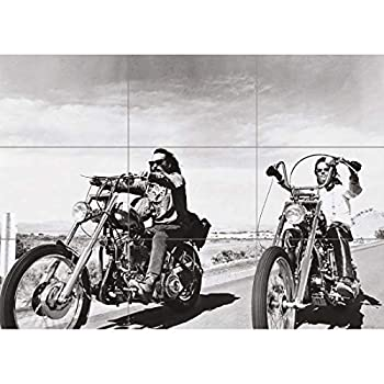 Doppelganger33 LTD Easy Rider Chopper Motorcycle Wall Art Multi Panel Poster Print 50x35 inches