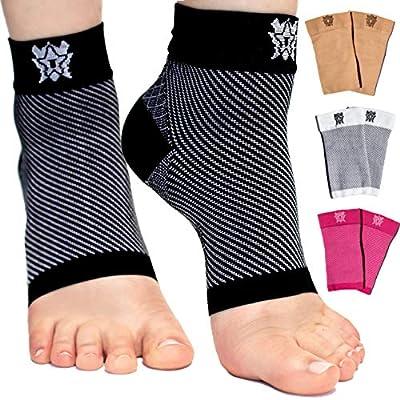 Bitly Plantar Fasciitis Socks (1 Pair) Premium Ankle Support foot Compression Sleeve