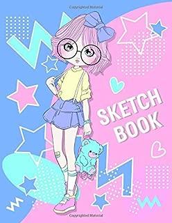 Sketchbook: Cute Twins Sister Ella and Ellie Character Sketchbook For 9-12 Year Old Girls ~ Blank Paper for Drawing,  Doodling or Sketching.(Volume 3)