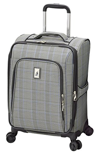 London Fog Knightsbridge II 29' Expandable Spinner, Grey Sapphire Plaid