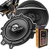 Pair of Pioneer 6-1/2' 6.5' 4-Way 350 Watt Coaxial Car Audio Speakers   TS-A1680F (2 Speakers) + Gravity Phone Magnet Holder
