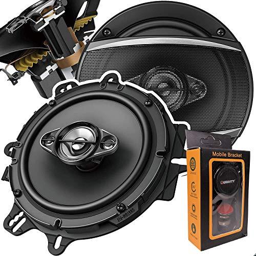 """Pair of Pioneer 6-1/2"""" 6.5"""" 4-Way 350 Watt Coaxial Car Audio Speakers   TS-A1680F (2 Speakers) + Gravity Phone Magnet Holder"""