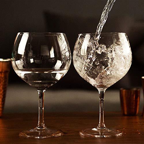 Homezone® Ballon-Gin-Gläser-Set, 2 Stück, extra groß, 500 ml, übergroßes Weinglas, Cocktailglas, Gin Tonic, für Bar Restaurant, Glaswaren, riesig