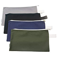 """Made from 100% cotton 16oz super strong quality canvas. Heavy-duty #5 zipper closure keep contents clean and secure Size: 12.5"""" by 7"""" color: Grey, Navy, Oliver green, Black Great for storing and organizing tools and electronic accessories and all you..."""