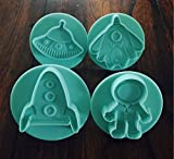 ASTRONAUT SPACESHIP ROCKET UFO COOKIE CUTTER MOLD FOR...