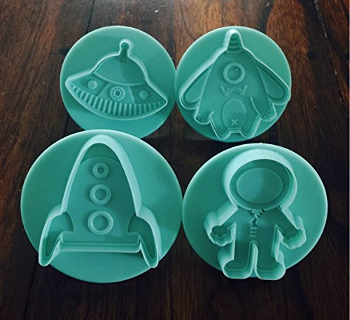 Spaceship and UFO cookie cutters creative party idea for AStronaut birthday